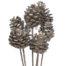 Pine Cone Silver on Stick - Silver Pine Cone
